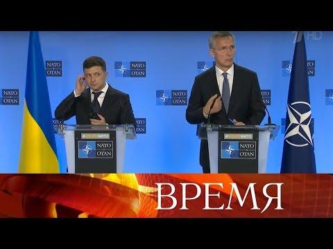 Президент Украины Владимир Зеленский в Брюсселе встретился с главой Еврокомиссии и генсеком НАТО.