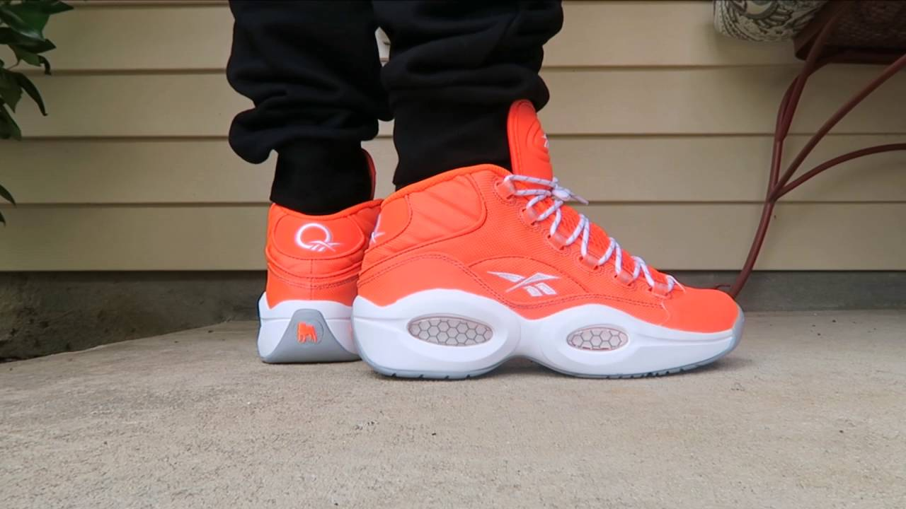 ... Reebok Classics Iverson Question Mid Only The Strong Survive Sneaker On Feet  With Dj Delz ... 9b5797707