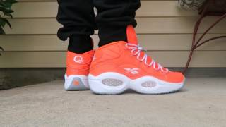 2a1799ad8c1563 Reebok Classics Iverson Question Mid Only The Strong Survive Sneaker On Feet  With Dj Delz