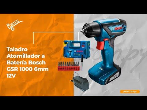 Porter.com.py - Taladro Atornillador a Batería Bosch GSR 1000 6mm 12V
