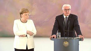 Schloss Bellevue: Merkel hat erneut Zitteranfall