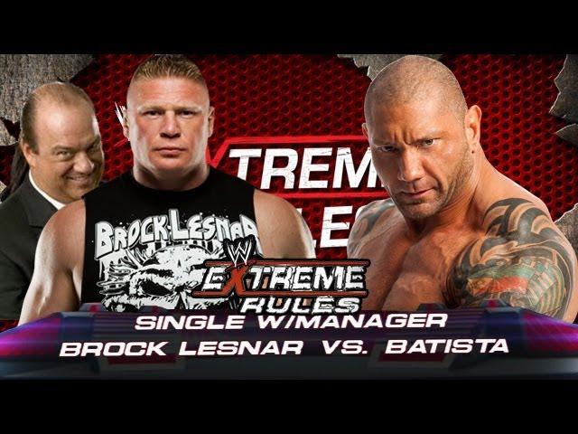 Brock Lesnar Vs Batista 2013 SaiGameZoneHD - Vidmoo...