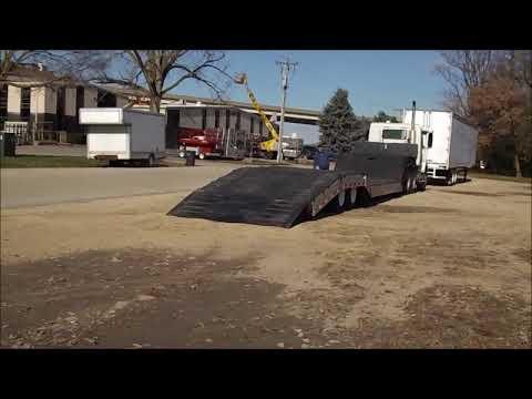 1992 Muv-All 4860FTD  double drop deck equipment trailer   no-reserve auction December 14, 2017