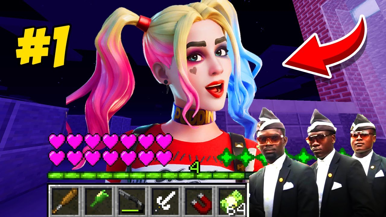 How to play HARLEY QUINN COFFIN DANCE MEME CHALLENGE in Minecraft! Real life NOOB VS PRO Animation