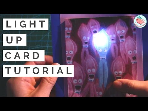 Paper Circuit   Light Up Card Tutorial with Parallel Circuits & LEDs   SING Movie Squid Card