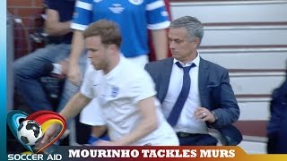 Jose Mourinho Takes Out Olly Murs | Soccer Aid
