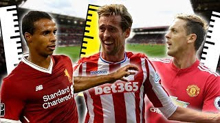 Top 20 Tallest Outfield Players In The Premier League 2017/18