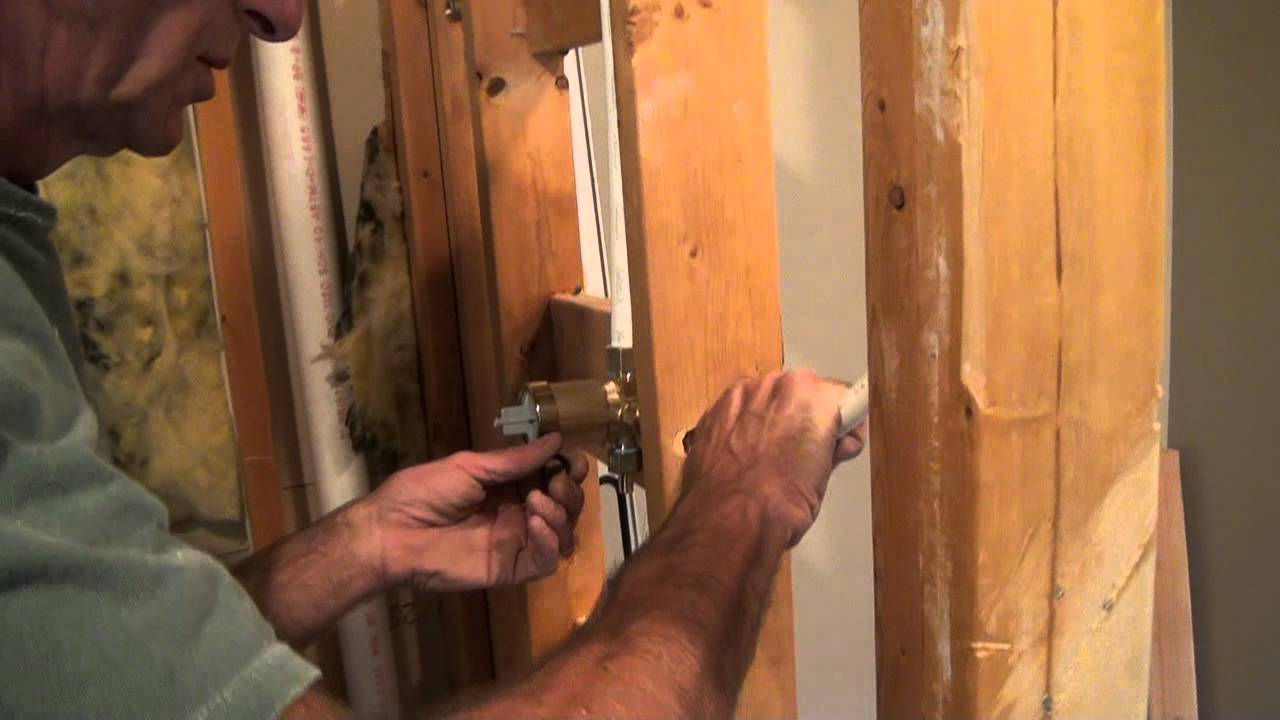 Tile Shower Plumbing Tricks Of The Trade YouTube - 3 knob shower faucettile designs for walk in showers