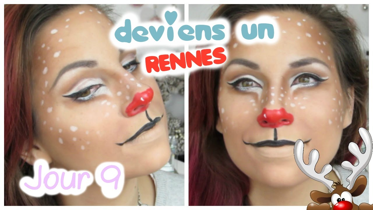 BEAUTY CHRISTMAS , 9 , maquillage Rudolf le renne