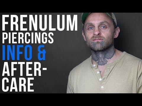 Frenulum Piercing Information & Aftercare | UrbanBodyJewelry.com