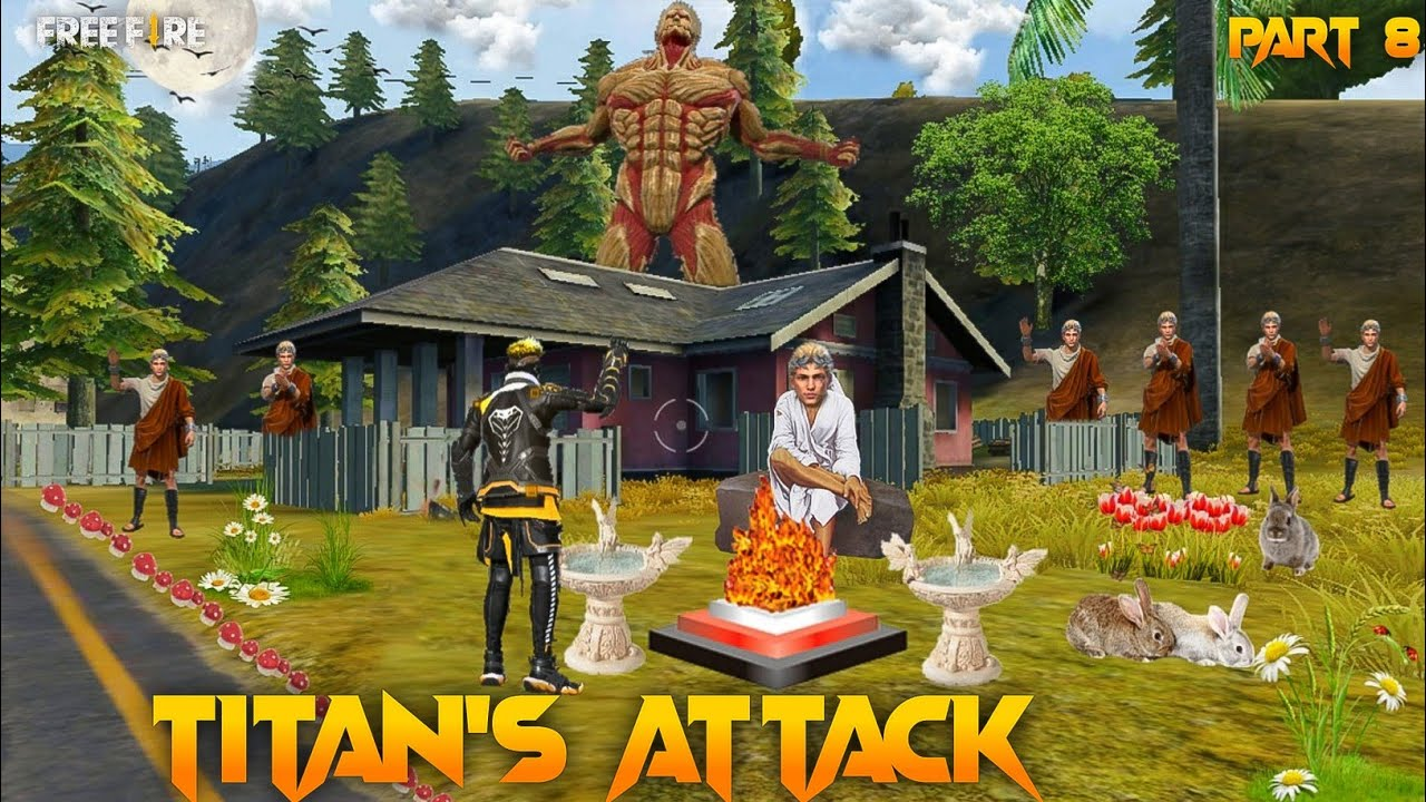 Titan's Attack Part 8  [ टाइटन्स का हमला ] New Short Free Fire Story in Hindi || Free Fire Story