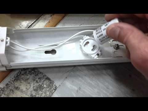 Замена лампы дневного света и стартера(дросселя)