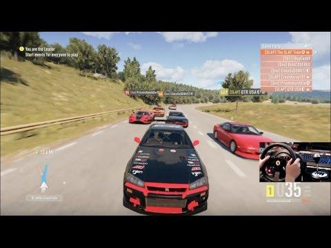 Forza Horizon 2 Drift Trip Online Open Lobby (R34 Rb26) w/Wheel Cam
