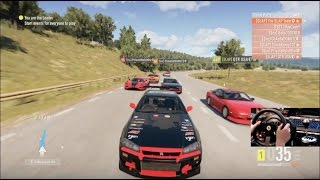 Forza Horizon 2 Drift Trip Online Open Lobby (R34 Rb26) w/Wheel Cam