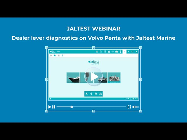 JALTEST WEBINAR | Dealer lever diagnostics on Volvo Penta with Jaltest Marine