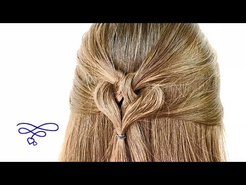 Tie Back Heart Shape Hairstyle
