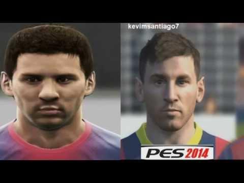 PES 2014 VS PES 2013 FACES/CARAS F.C BARCELONA HD