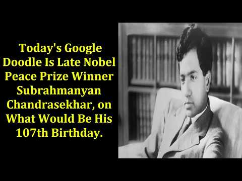 Google Doodle honors S. Chandrasekhar