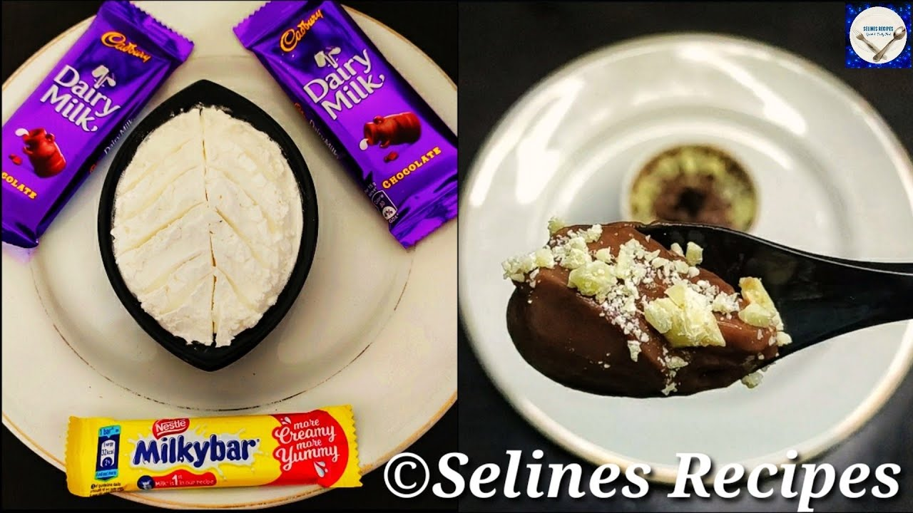 Dairy Milk & Milky Bar Recipe | Easy Eggless Chocolate Pudding |Chocolate Pudding recipe | Dessert |