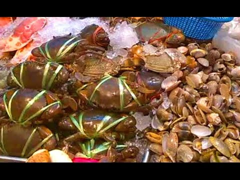 bangkok street food seafood market chinatown youtube. Black Bedroom Furniture Sets. Home Design Ideas