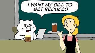 "TROLL CAT "" Trolls His Waitress "" FUNNY COMICS"