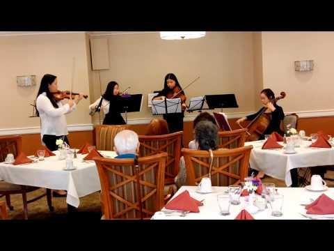 Jericho Middle School 8th gr. String Quartet.
