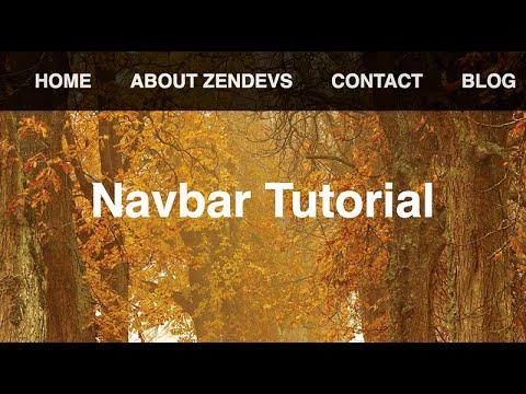 Simple Navigation Bar Tutorial  | HTML & CSS thumbnail