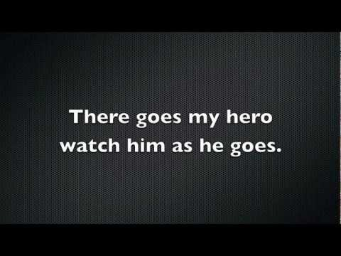 Foo Fighters  My Hero Lyrics
