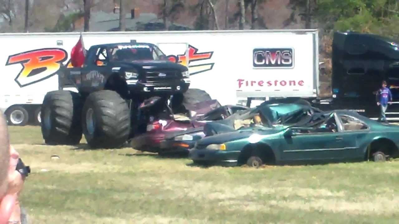 Big Foot Monster Truck Crushing Cars In Summerfield Nc M M