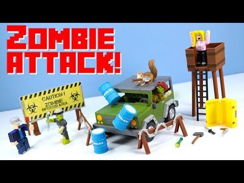Roblox Zombie Apocalypse Set Roblox Series 2 Zombie Attack Set Apocalypse Rising 4x4 Toy Review Youtube