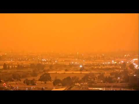 Bay Area or Mars? Smoke and ash-filtered sunlight is creating a brownish-orange glow over the Bay Area.