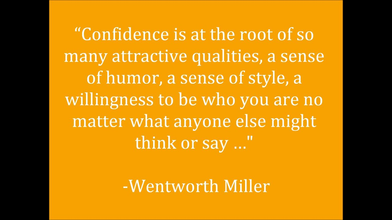 Quotes About Self Confidence Confidence  Self Esteem  Self Belief Quotes  Youtube