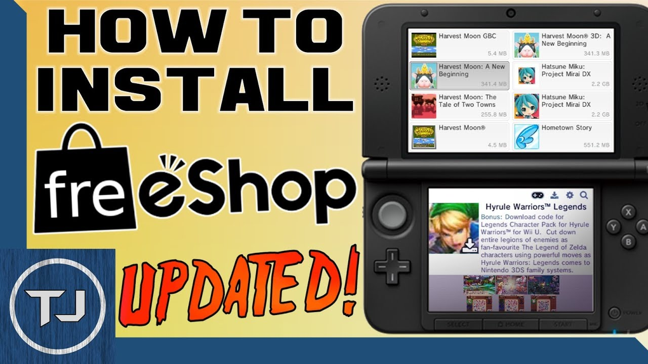 How To Install FreeShop! 3DS/2DS [11 6 CFW] (LATEST UPDATE) 2017