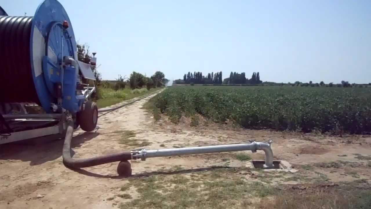 Irrigazione mais 2012 con irrigatore ocmis variorain vr7 for Irrigatori getto rettangolare
