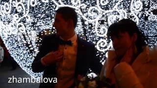 2014 Любовь и голуби свадьба - новогодний шар на Манежной Москва новый год