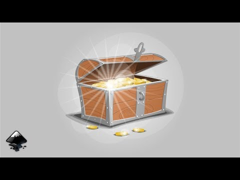 How to draw a chest with gold coins in inkscape