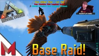 SL1PG8R AND LAPIS LAURI RAID ON MAZION'S BASE -=- ARK: SURVIVAL EVOLVED GAMEPLAY -=- S4E40