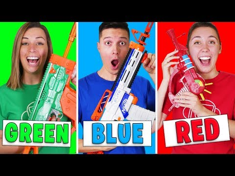 Using Only ONE Color In MODDED Nerf MYSTERY BOX Challenge!