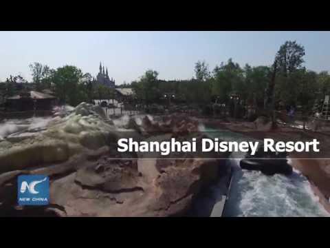 Aerial view of Shanghai Disney Resort