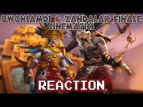 KRIMSON KB REACTS: Bwonsamdi & Zandalar Finale Cinematics