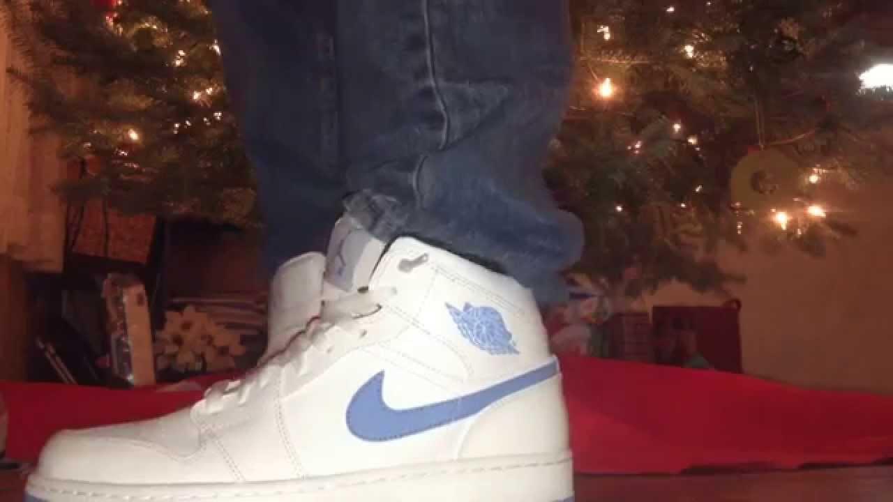 Legend Blue Jordan 1 On Feet - YouTube a273dbf63