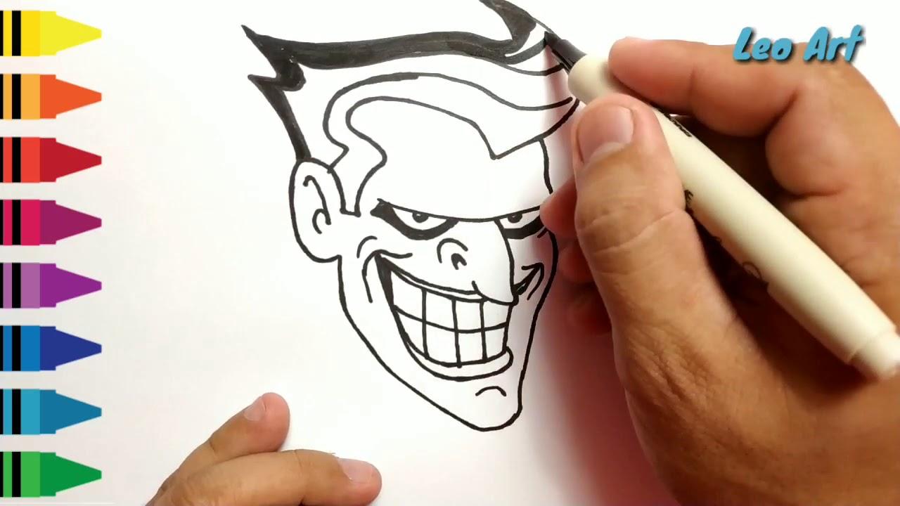 Menggambar Joker Menggambar Dan Mewarnai