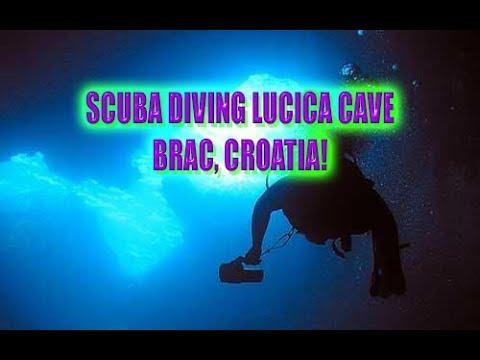 SCUBA Diving Lucica Cave, Brac, Croatia