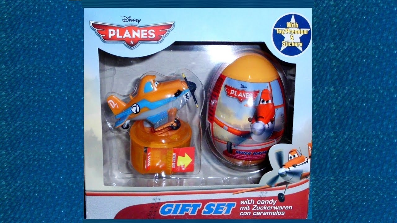 planes movie gift set unboxing surprise egg toy candy