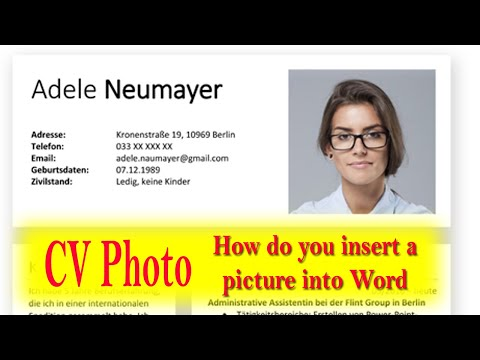 how to insert photo in CV Add photo in resume insert picture cv