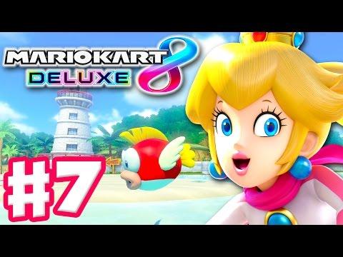 Peach! Shell Cup! Online 150cc Tournament! - Mario Kart 8 Deluxe - Gameplay Walkthrough Part 7