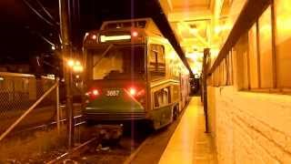 MBTA Green Line AnsaldoBreda Type 8 LRV #3887 Yard Move @ Lechmere