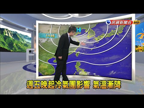 2020/2/6 週五晚起冷氣團影響 氣溫漸降-民視新聞