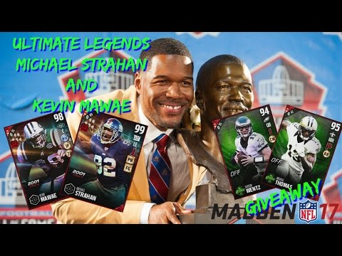 Madden 17 Ultimate Legends Michael Strahan and Kevin Mawae and Michael Thomas/Carson Wentz Giveaway