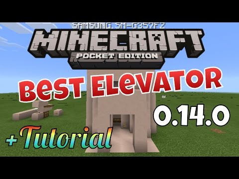 Mcpe Redstone Elevator Goes Up And Down 0 14 0 Youtube